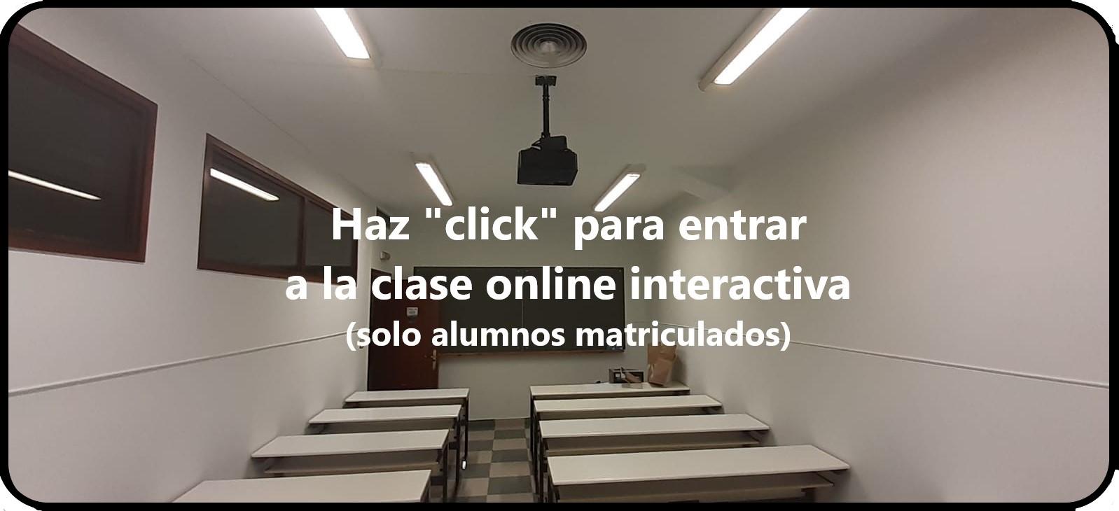 Acceso al aula online interactiva