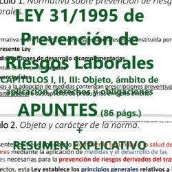 Apuntes de la ley de prevención de riesgos laborales