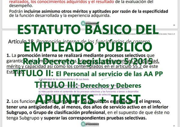 Test del Estatuto Básico del Empleado Público