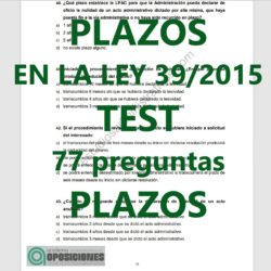 test plazos en la ley 39/2015