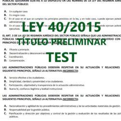 Test sobre la ley 40/2015