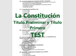 Test sobre la Constitución