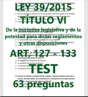 test de la ley 39/2015 título VI