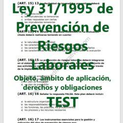 Test de la ley de prevención de riesgos laborales