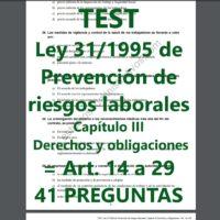 TEST Ley de Prevención de Riesgos Laborales