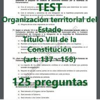 test sobre la organización territorial del estado