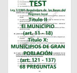 TEST Ley de Bases del Régimen Local