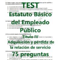 TEST Estatuto Básico del Empleado Público
