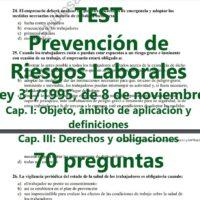 TEST sobre prevención de riesgos laborales