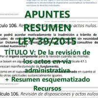 Resumen Ley 39/2015 Título V