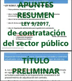 Apuntes Ley de Contratos del sector público