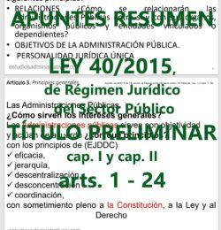 Apuntes Ley de Régimen Jurídico del Sector Público