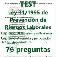 TEST sobre la Ley 31/1995 de Prevención de Riesgos Laborales