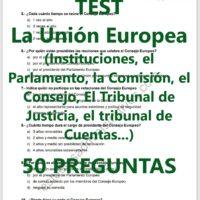 TEST sobre la Unión Europea