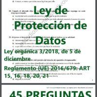 TEST de la Ley de Protección de datos